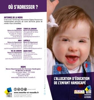 L'allocation d'éducation de l'enfant handicapé