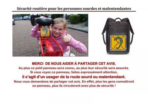 Sécurité routière pour les personnes sourdes et malentendantes