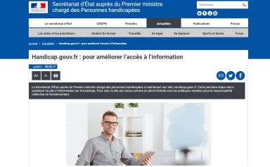 Site Handicap.gouv.fr