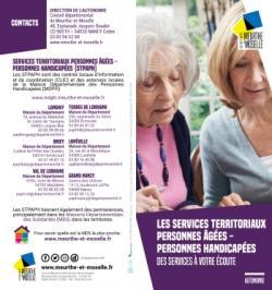 Les services territoriaux personnes âgées - personnes handicapées